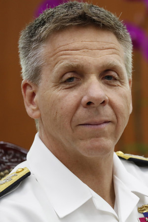米インド太平洋軍のデービッドソン司令官=2018年6月、ソウル(EPA時事)