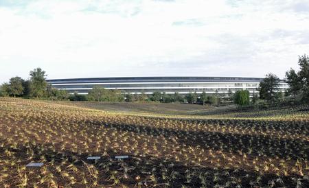 米アップルの新本社「アップル・パーク」の社屋