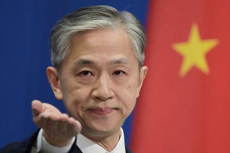中国外務省の汪文斌副報道局長=2020年11月、北京(AFP時事)