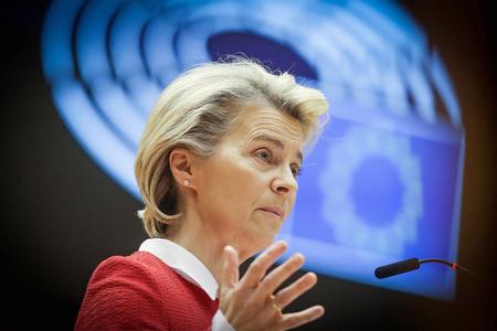 欧州連合(EU)のフォンデアライエン欧州委員長(AFP時事)