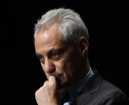 駐日米大使への起用が取り沙汰されるラーム・エマニュエル前シカゴ市長=2017年3月、シカゴ(AFP時事)