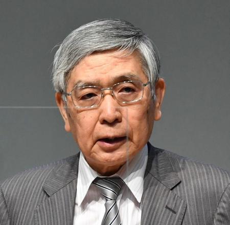 日銀の黒田東彦総裁(6月)