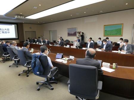 エネルギー基本計画の改定について議論する「総合資源エネルギー調査会基本政策分科会」=21日午後、経済産業省