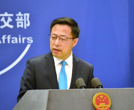 中国外務省の趙立堅副報道局長=1月、北京