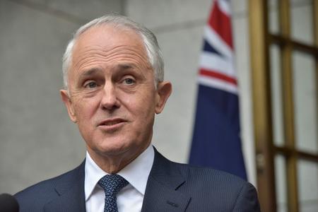 オーストラリアのターンブル前首相=2018年、キャンベラ(AFP時事)